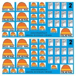 87.018 - logo seco DGC & SECO RAIL - 1/87eme - reservation
