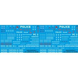 87.089 - pompiers de paris + police - 1/87eme
