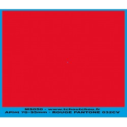 MS050 - rouge - applat de couleur rouge pantone 032CV