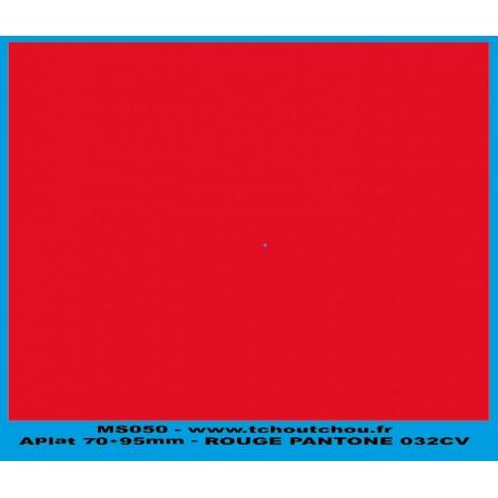 MS050 - rouge - applat de couleur rouge pantone 032CV