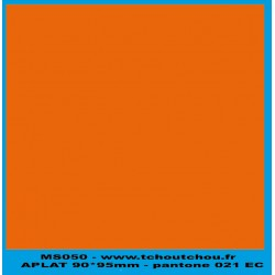 MS050 - ORANGE - applat de couleur pantone 021 EC