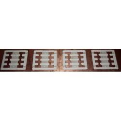 TCHOUP12 - coupons de raccordement pour les modules * 4 - 1/87eme HO