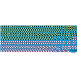 46.007 - bande zébra jaune et noir, blanc et rouge - 1/43 et 1/50eme