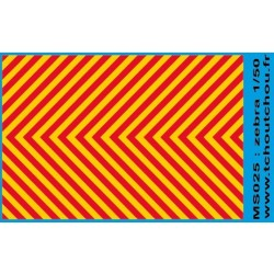 ms025 - zebra jaune/rouge - 1/50eme