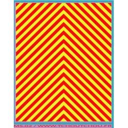 ms02- zebra jaune fluo / rouge - 1/43eme