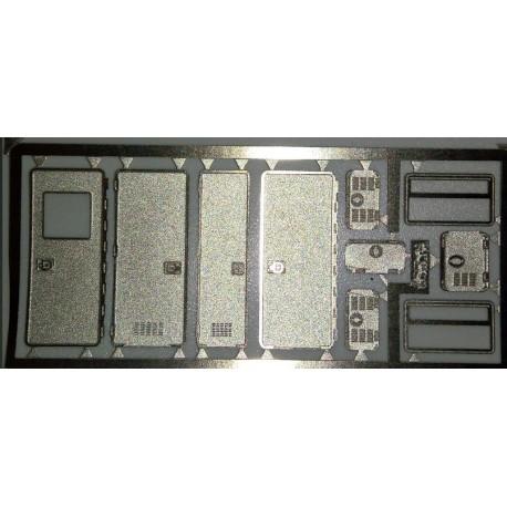 2PHD067 - porte + vitrage + divers pour cellule pompier 1/87eme HO