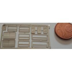 2phd071 - Baies vitrées + portes de coffres - 1/87eme HO