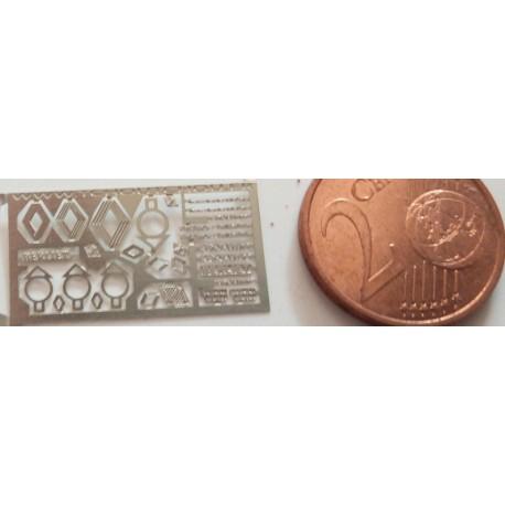 2phd072 - LOGO CAMIONS berliet renault etc ... 1/87eme HO