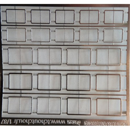2hd084 - vitre en photdécoupe pour pacific - 1/87eme HO