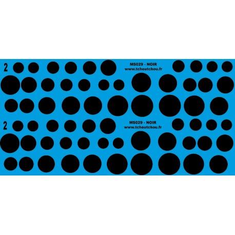 MS029 blanc - rond de 9 à 18mm