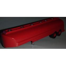CHO2001 - citerne essence deux essieux rouge - monté ready - 1/87eme HO