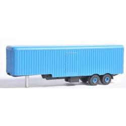 CHO2001 - remorque deux essieux frejat -monté bleu - 1/87eme HO