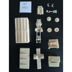 CHO3150 - berliet stradair porteur baché - kit - 1/87eme ho