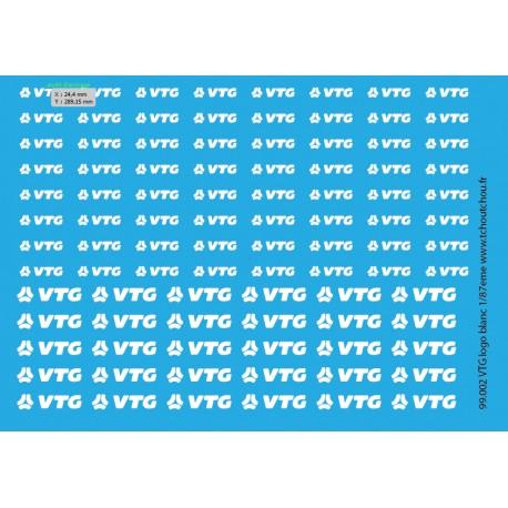 99.002 logo VTG de 4mm et 6mm de haut 1/87eme HO