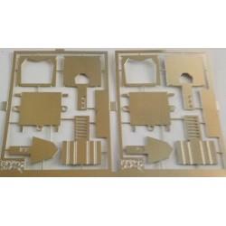 2phd031 - 2 x attelages à élongation pour wagons - 1/87eme HO