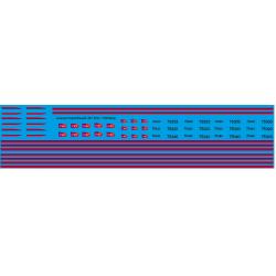 87.150 - bb75300 Bandes Carmillon et logo 1/87eme HO