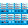 87.100 corail intercité + akiem ( rouge) 1/87eme HO