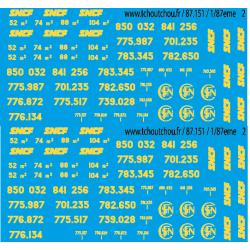 cjm311 - Inscriptions pour bâches SNCF - 1/87eme
