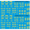 87.151 - Inscriptions pour bâches SNCF - 1/87eme