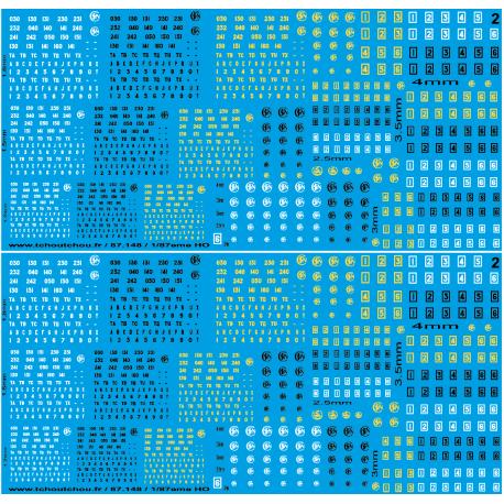 87.148 - marque ancien vapeur jaune noir et blanc 1/87 HO