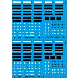 46.014 - Plaques immatriculations noire et blanche 1/43 1/50 eme