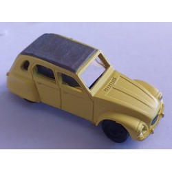 cho6002- dyane citroen- monté ready jaune 1/87eme Ho