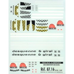 "carp87.16 -TRAIN DECORATIONS ""SECO DG"" 1/87eme HO"