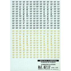 carp87.17 plaques d'immatriculations française - 1/87eme