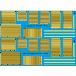 sp43.036 - rideaux jaune - 1/43eme