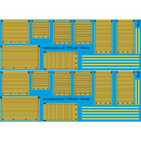 sp43.036 - rideaux jaune - 1/43eme - reservation