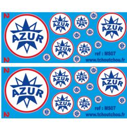 ms07 - logo azur - 1/87 1/43 1/50