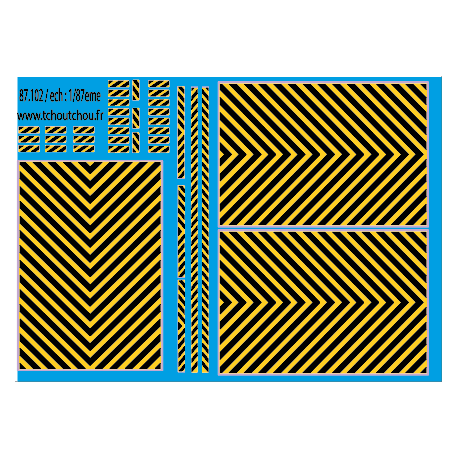 87.112 : zebra jaune/ Noir 1/87eme