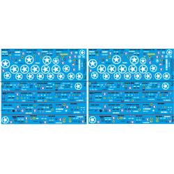 35.004 planches de imatricuation 2eme DB - 1 - 24 imatriculations - 1/35eme