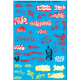 87.158 - TAGS graffiti rouge et jaune fluo - 1/87eme HO