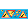 sp43.072 -panneau acident 2 jaune fluo - 1/43eme