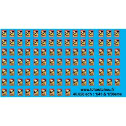 46.028 - marquage angles mort BUS et camions - 1/43 et 1/50eme