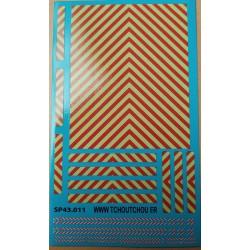 sp43.011 - zebra jaune/rouge /1/43eme